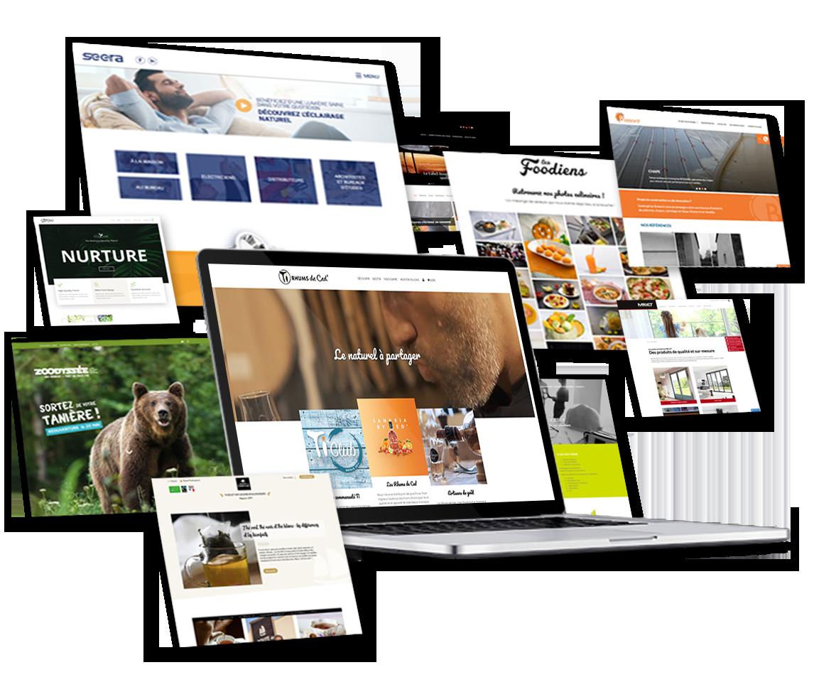 Nous créons pour vous un webdesign personnalisé, unique et sur-mesure