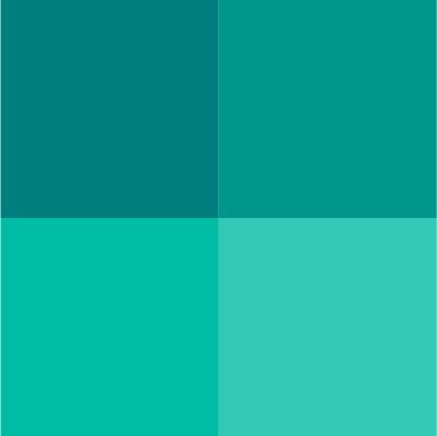 nuancier bleu vert