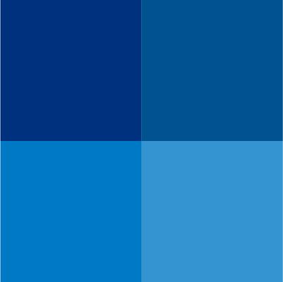 nuancier bleu