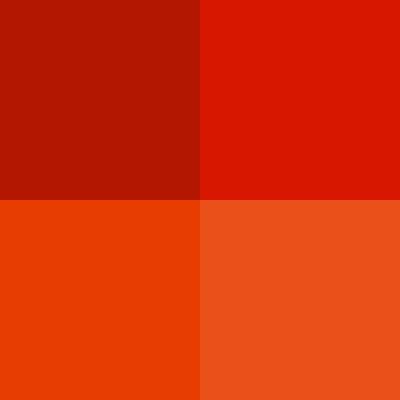 nuancier rouge