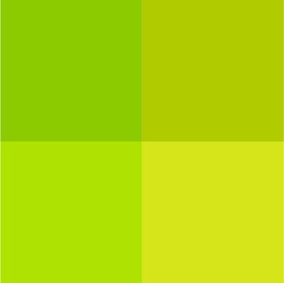 nuancier vert
